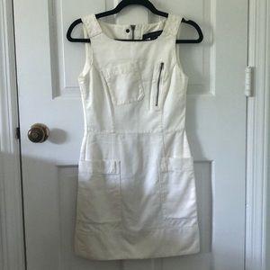 French Connection White Denim Mini Dress